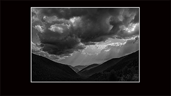 The Richard Philip Soltice Gallery - Light Shafts and Clouds from Kootenay Pass